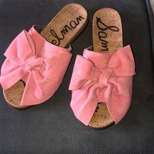 Sam Edelman Pink Bowed Sandals